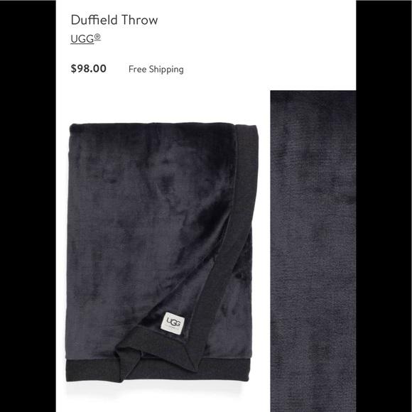 UGG AUSTRALIA DUFFIELD THROW Blanket Black Bear Heather 50 X
